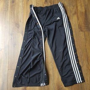 90's Adidas full tear away sweat pants